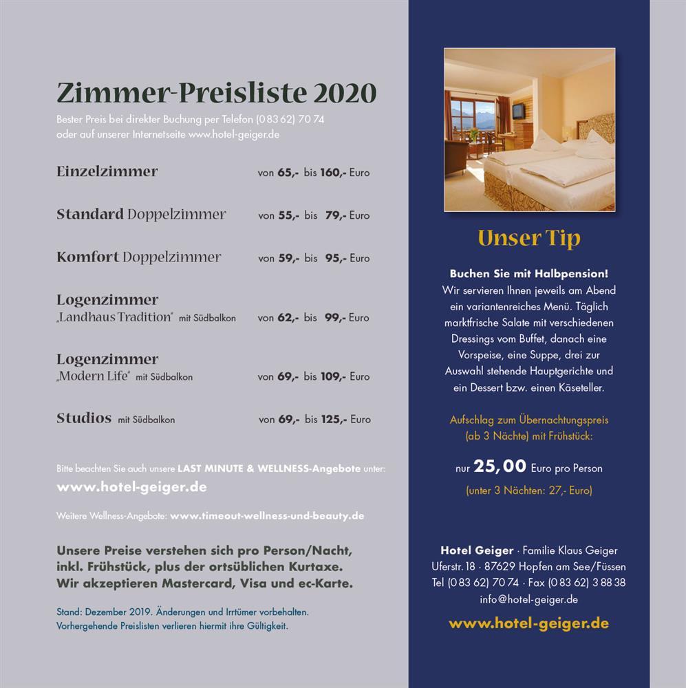 Preisliste 2 2020